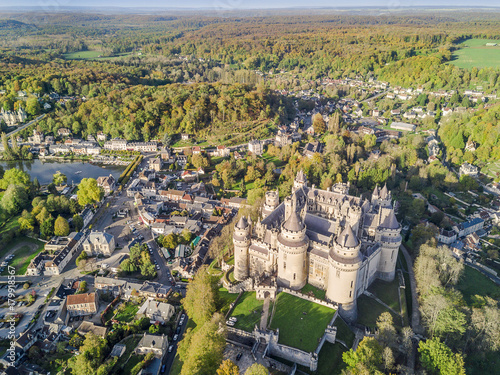 Amazing castle in Pierrefonds, France Poster