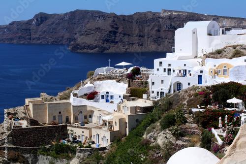 Fotobehang Santorini Santorini Landscape, Oia city - Greece