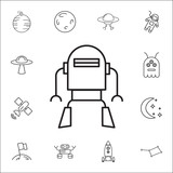 Robot Icon  Space Icons Signs Outline Symbols  Simple Thin Line Icons For Websites Web Design Mobile App Info Graphics Wall Sticker