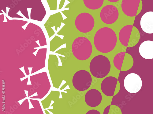 Abstract fruit design in flat cut out style. Grapes and stems. Vector illustration. - 179938307