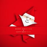Boże Narodzenie origami wektor - 179941705