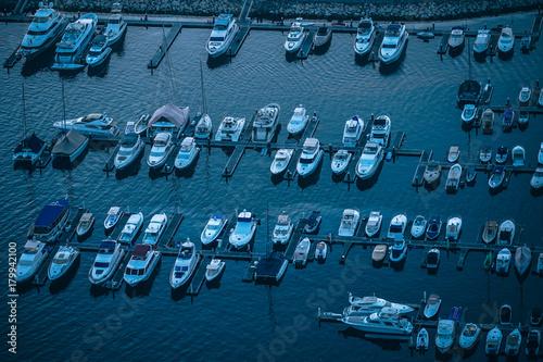 Keuken foto achterwand Schip Docked Boats