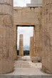 Looking Through the Doorway at the Columns of the Propylaea