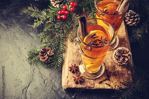 Autumn and winter cocktail - grog - 179949731