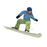 Winter sport. Snowboarder. Vector illustration