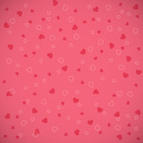 vector pattern set with hand drawn hearts