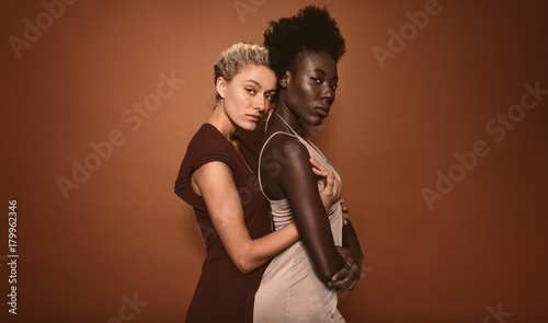 Portrait of stylish two girls