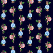 Seamless pattern with snails watercolor hand painted for children - 179963315