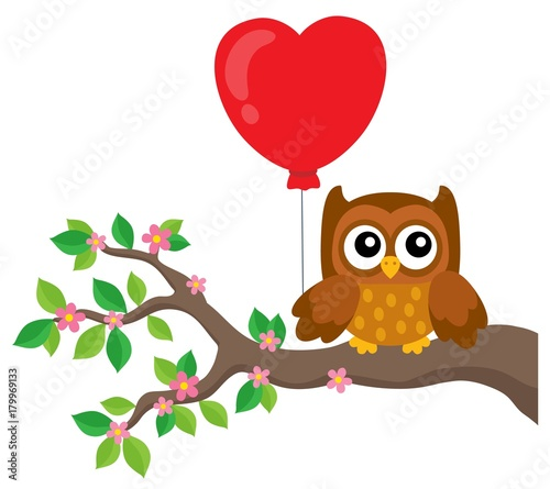 Aluminium Voor kinderen Valentine owl topic image 5