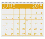 2018 Calendar: Month Of June With Flag Day - 179970901