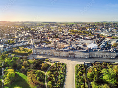 Tuinposter Nice Aerial view of Palace of Compiegne, Hauts-de-France, France