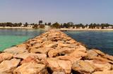 Blick auf den Strand von Djerba/Tunesine - 179975715