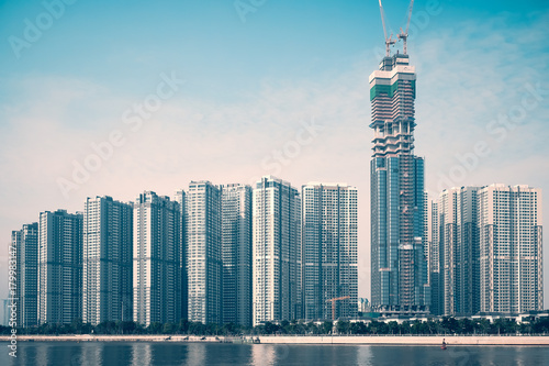 Fotobehang Shanghai High Buildings in new Project Central Park