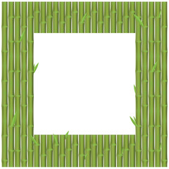 Bamboo branches is rectangular position for frame