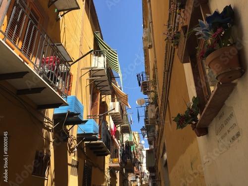 Fotobehang Smalle straatjes Sicile