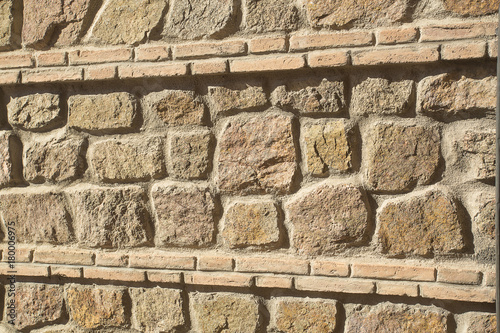 Fotobehang Stenen Stone and brick texture - Toledo Spain