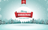 Merry Christmas Greeting Card - 180008567