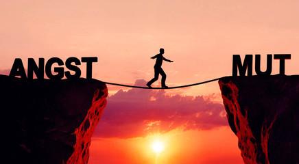 Angst und Mut Schlucht
