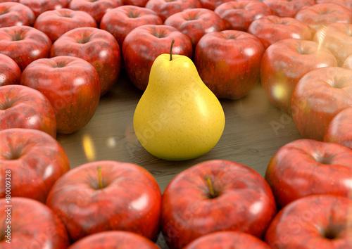 Eine Birne unter vielen Äpfel - 180009328