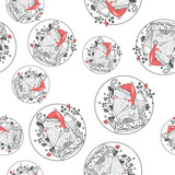 Scandinavian Seamless Pattern  Foxes Christmas Design It Can Be Used As Wallpaper Desktop Printing Wrapping Fabric Or  For Your Blog Covers And Your Design Wall Sticker