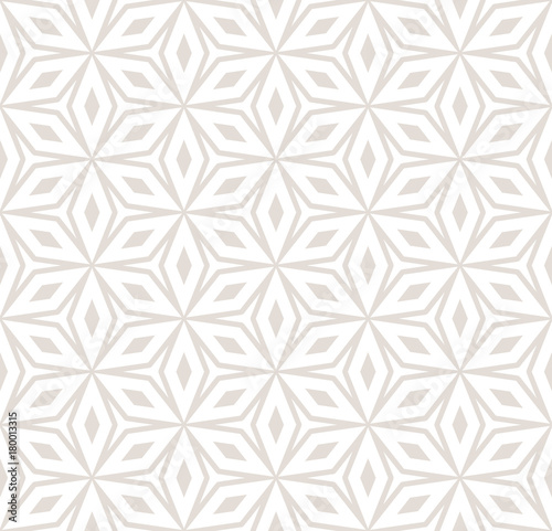 Vector abstract ornament seamless pattern in pastel colors, white and beige. Floral pattern. Ornamental background. - 180013315