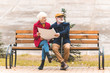 senior tourist couple