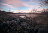 Pink clouds over the river, Finland, Natural Park Kilpisjarvi - 180020704