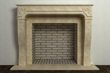 Respectable fireplace in home interior