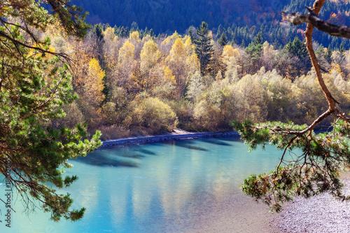 Beautiful waterfall in autumn - 180028155