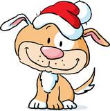 Cute Dog Character  Santa Cap   Illustration Wall Sticker