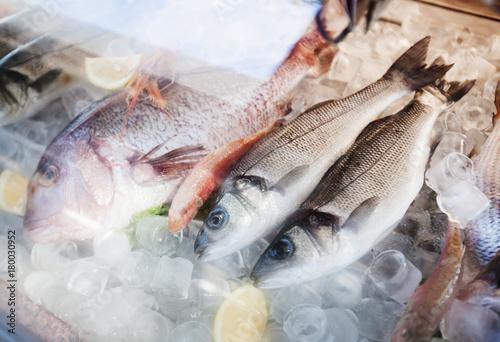Fototapeta Fresh fish seafood