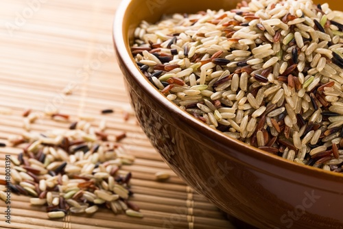 Fridge magnet Mixture of Wild, Red, White and Brown Rice
