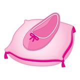 Vector Cinderella Shoe on Pink Pillow