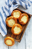 Homemade little open pies with sweet cheese. - 180035129