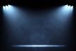 Spotlights illuminating empty stage