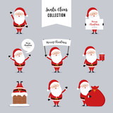 Santa Claus Character Greetings Christmas  Wall Sticker