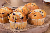 Golden Brown Blueberry Muffins