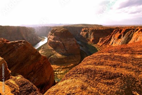 Foto op Plexiglas Bruin The horseshoe bend in Arizona