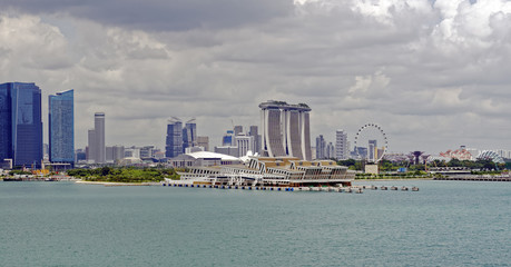 Sea approach to the port of Singapore