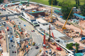 Construction site. Aerial view. Singapore