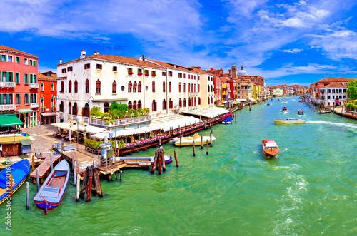 Foto op Plexiglas Venetie Colorful Canal Grande in Venice panoramic view