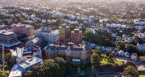 Victoria University Wellington New Zealand Sunset Aerial Buy