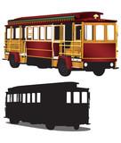 San Francisco Tour Cable Car Trolley Illustration Vector