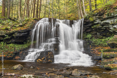 Waterfall on Dry Run - Loyalsock State Forest, Pennsylvania - 180065174