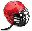 Red Ice Hockey Helmet with Cage, Isolated on Transparent