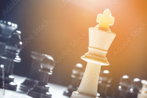 Poster chess pieces on a black background