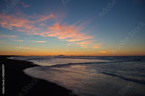 Fotobehang Zee zonsondergang Surfing Kamchatka