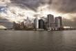 panoramic view of Manhattan at sunset