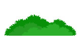green stylized bush icon - 180092115
