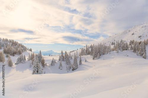 Fotobehang Natuur Winter in den Bergen